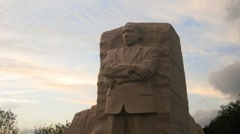Martin Luther King Jr. Memorial Timelapse 1 Stock Footage