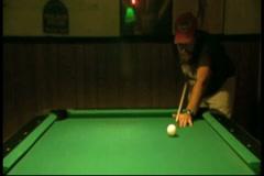 Man Shooting Pool(HD)c Stock Footage