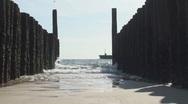 Sea breaker waves Stock Footage
