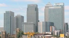 Canary Wharf Financial District London 60I Stock Footage
