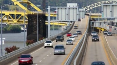 Pittsburgh Traffic 2308 Stock Footage