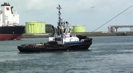 Stock Video Footage of Towage vessel-harbour-0160
