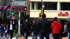 Turkey Istanbul Taksim square traffic crosswalk Stock Footage