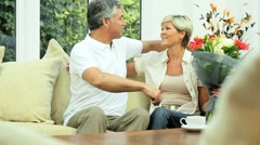 Mature Couple Happy with Their Financial Planning - stock footage