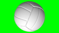 Looping Green Screen Volleyball Element Stock Footage