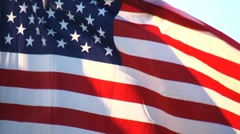 Flags look down zoom out - stock footage