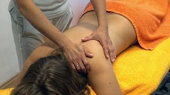 Stock Video Footage of massage at the spa