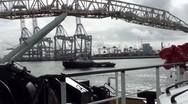 Stock Video Footage of Port-boats-cranes-0166
