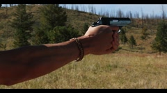 James Bond Gun firing (close Up)-- Walther PPK Stock Footage