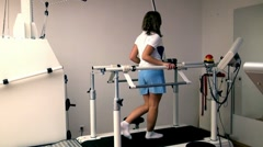 Woman on a Treadmill Stock Footage