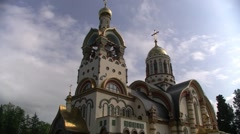 Church in Sochi, Vladimir sv.knyazyu Stock Footage