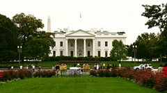 White House Time-Lapse Zoom In - stock footage