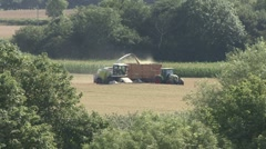 Cutting grass to make silage. Stock Footage