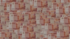 Russian Money Stock Footage