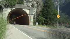 Trans Canada Highway Tunnel Traffic Time Lapse Stock Footage