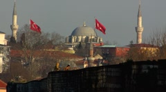 Turkey Istanbul Turkish children on city wall Stock Footage