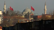 Stock Video Footage of Turkey Istanbul Turkish children on city wall
