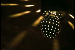 Spinning disco light over Lounge Dance Floor Stock Footage