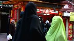 Turkey Istanbul Doner Kebap Kebab takeaway shop Stock Footage