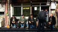 Stock Video Footage of Turkey Istanbul Turkish men drink tea