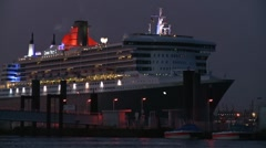 QueenMary2_01 - stock footage