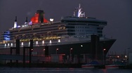 Stock Video Footage of QueenMary2_01