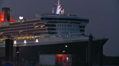 QueenMary2_01 Stock Footage
