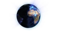Blue network on a lighted Earth with moving clouds with Earth image courtesy of - stock footage