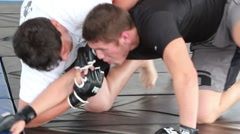 MMA Fight Demonstration 1 - stock footage