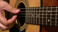 Acoustic guitar playing Stock Footage