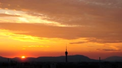 Utopistic sunset at Budapest Stock Footage