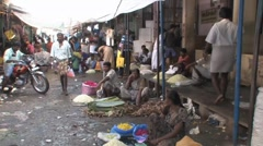 Flower market - Madurai, India Stock Footage