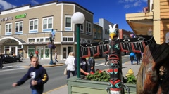 Juneau downtown - stock footage