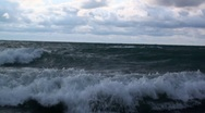 Stock Video Footage of Lake Michigan and close up of waves