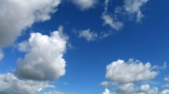 Time lapse clouds on a sunny day, storm gathering. Stock Footage