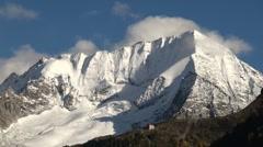 Snowcapped mountain peak Stock Footage