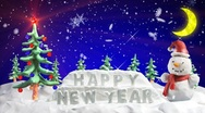 Happy new year clay greetings loopable scene Stock Footage