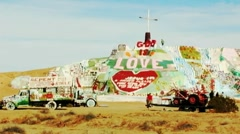 Salvation Mountain at Slab City- Niland, CA 1 Stock Footage
