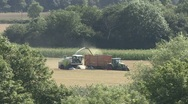 Stock Video Footage of Cutting grass to make silage.