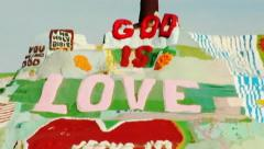 Salvation Mountain at Slab City- Niland, CA 5 - stock footage