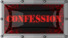 Confession on led Stock Footage