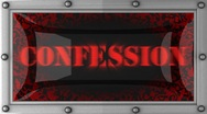 Stock Video Footage of confession on led