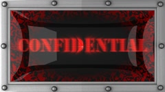 Stock Video Footage of confidential on led