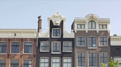 City view of Amsterdam, The Netherlands Stock Footage