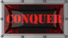 conquer on led - stock footage
