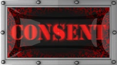 Stock Video Footage of consent on led