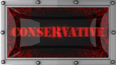 conservative on led - stock footage