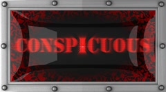 conspicuous on led - stock footage