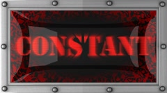 constant on led - stock footage