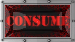 consume on led - stock footage